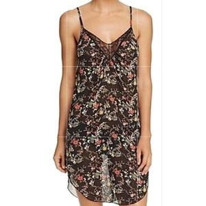 New!!! Sam Edelman black floral chemise with lace